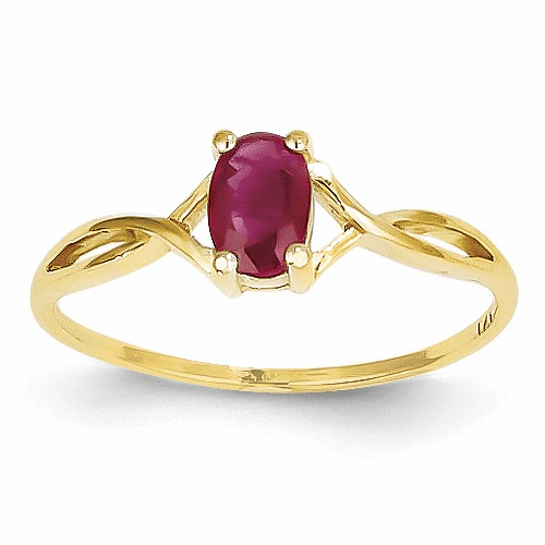 14k Ruby Birthstone Ring Xbr232