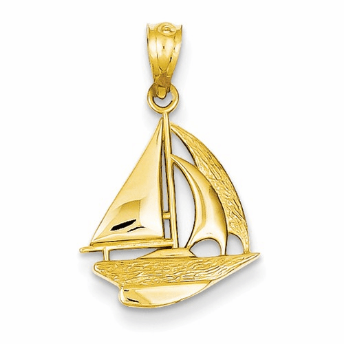 14k Sailboat Pendant C4172
