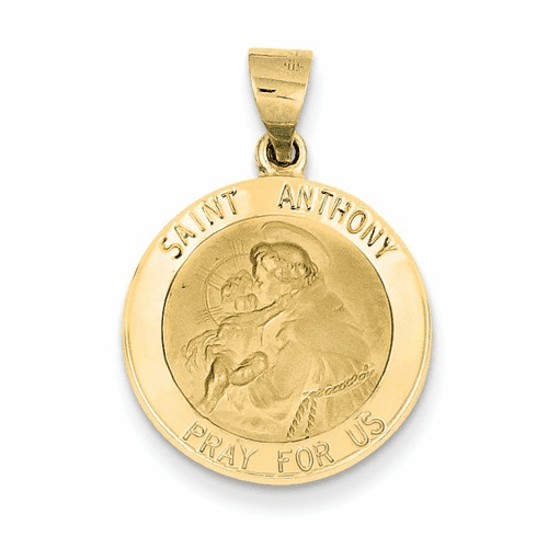 14k Saint Anthony Medal Pendant Rel146