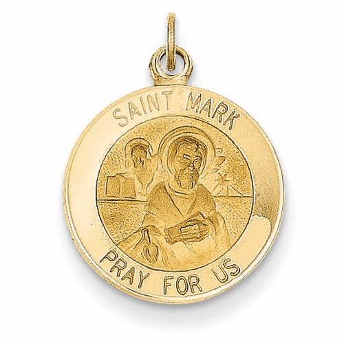 14k Saint Mark Medal Charm Xr400