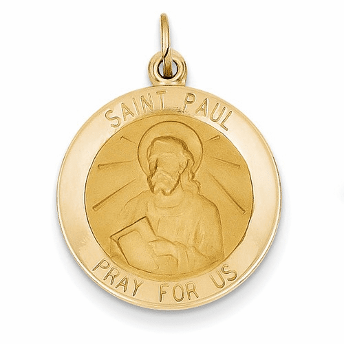 14k Saint Paul Medal Pendant Xr632