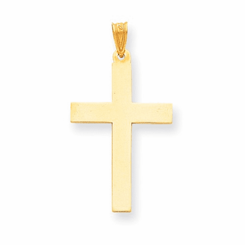 14k Satin Cross Pendant Xr103