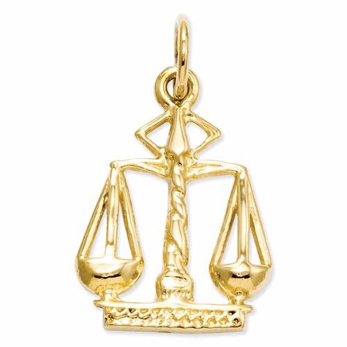 14k Scales Of Justice Charm A2918