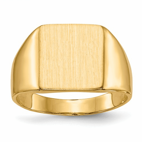 14k Signet Ring Rs358a