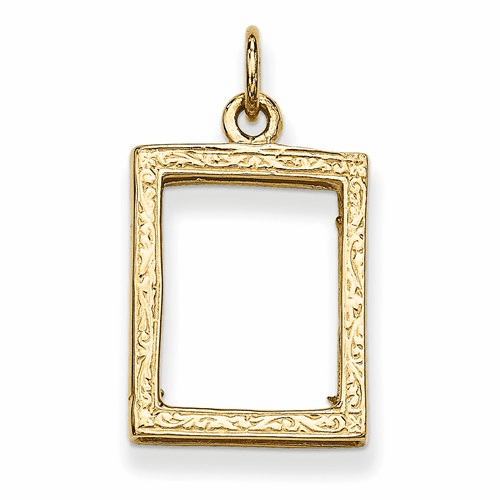 14k Small Picture Frame Pendant A0194