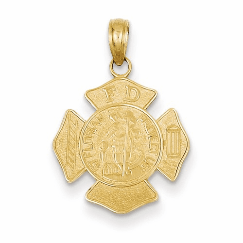 14k Small St. Florian Badge Pendant C2258