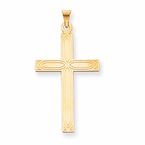 14k Solid Cross Pendant Xr109