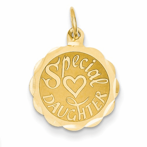 14k Special Daughter Charm Xac621