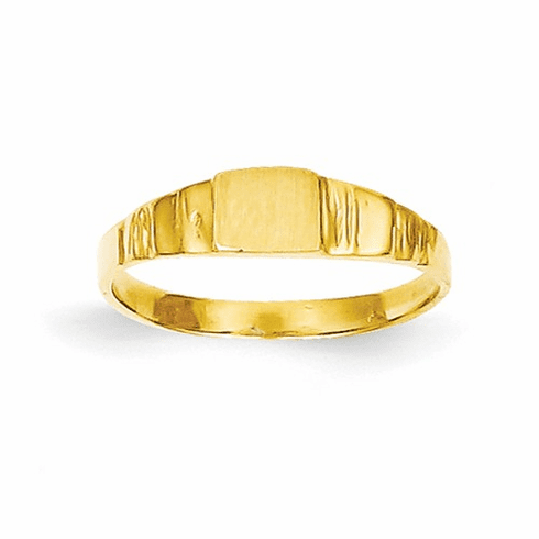14k Square Baby Signet Ring R526