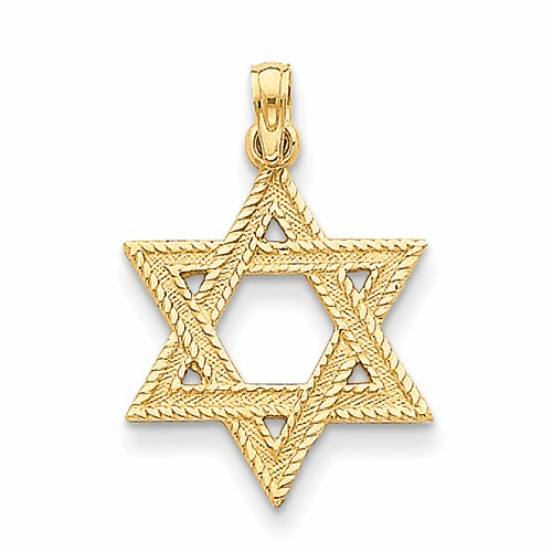 14k Star Of David Pendant C3988