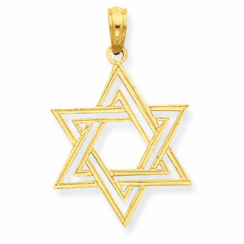 14k Star Of David Pendant C4465