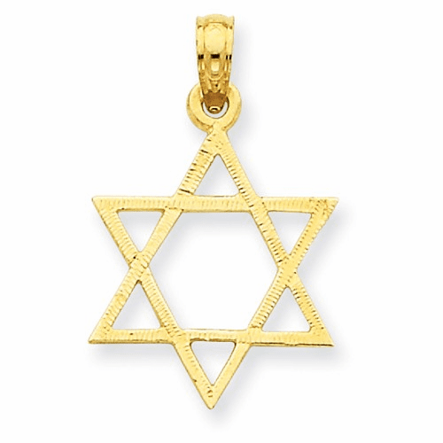 14k Star Of David Pendant D3801