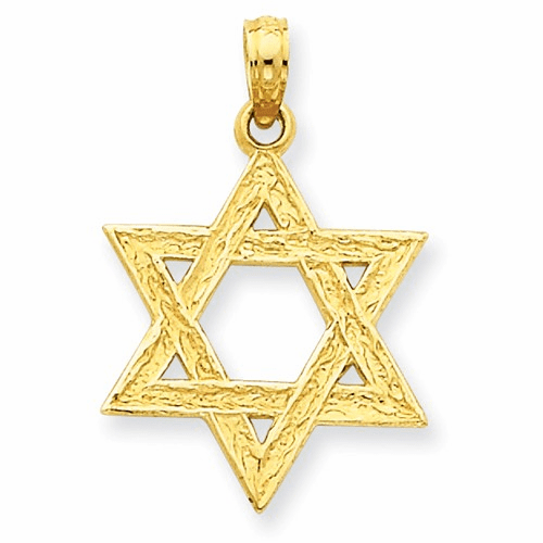 14k Star Of David Pendant D3803