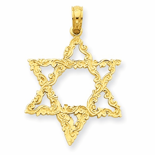 14k Star Of David Pendant D3804