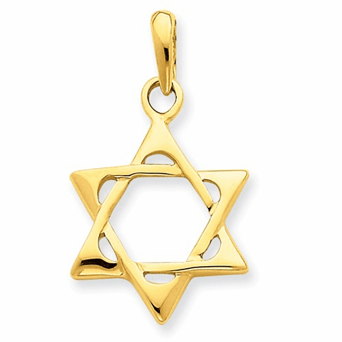 14k Star Of David Pendant K2298