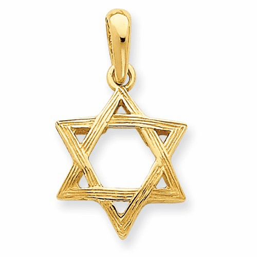 14k Star Of David Pendant K531