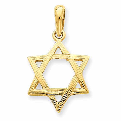 14k Star Of David Pendant K532