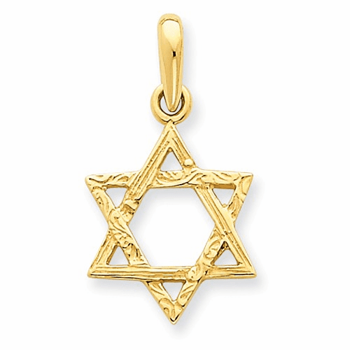 14k Star Of David Pendant K533