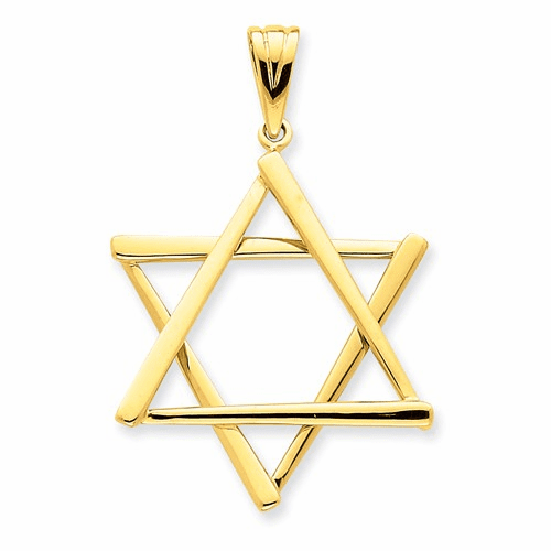14k Star Of David Pendant K541