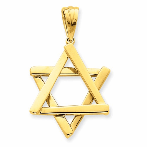 14k Star Of David Pendant K542