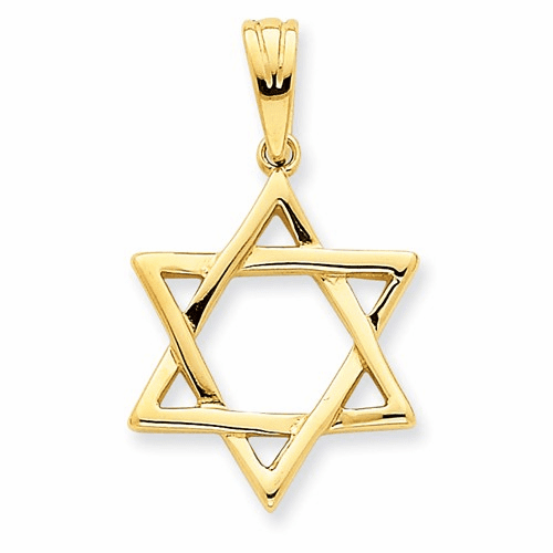 14k Star Of David Pendant K544