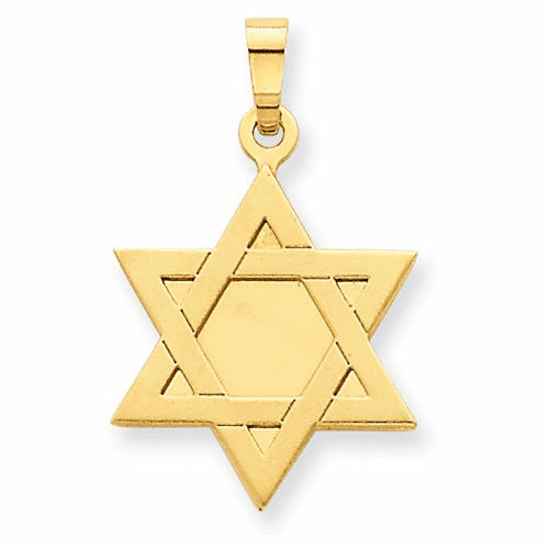 14k Star Of David Pendant Xk650