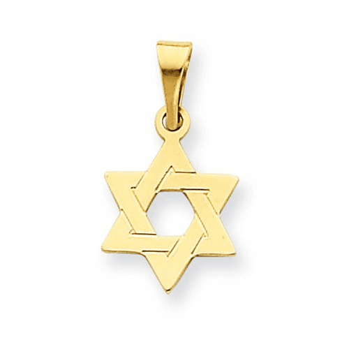 14k Star Of David Pendant Xr417