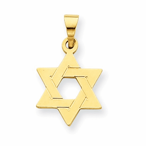 14k Star Of David Pendant Xr418