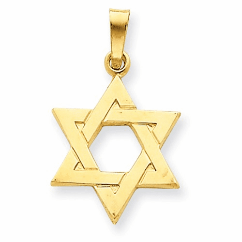 14k Star Of David Pendant Xr419