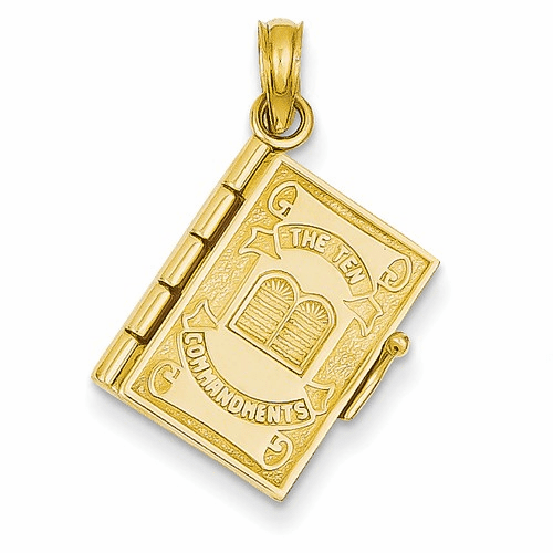 14k Ten Commandments Bible Pendant D1501
