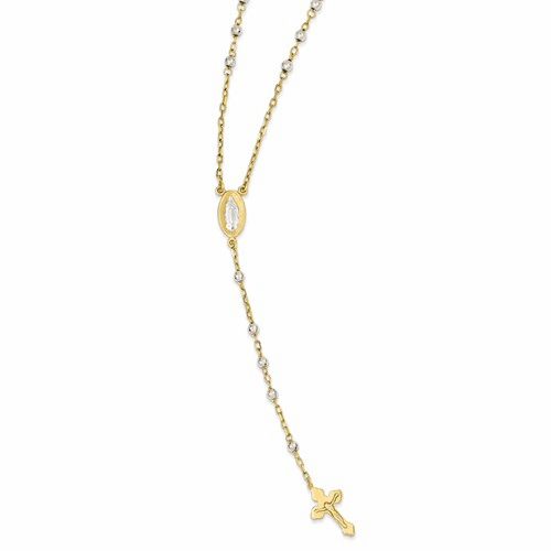 14k Two-tone Rosary Necklace Sf1475-16