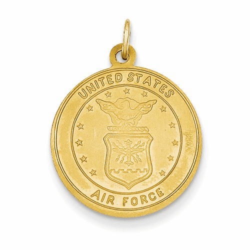 14k Us Air Force Saint Christopher Medal Pendant Rel140