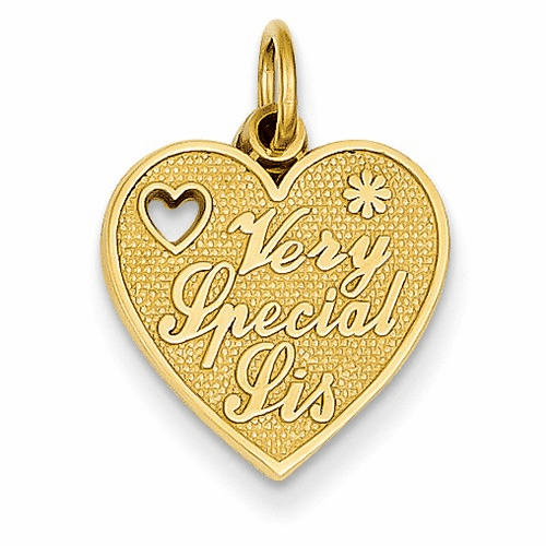 14k Very Special Sister Charm C1692