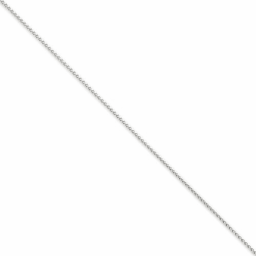14k Wg 1.25mm Solid Polished Spiga Chain Pen31-9