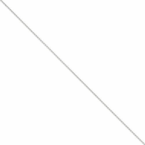14k Wg 1.3mm Solid D/c Cable Chain Pen146-9