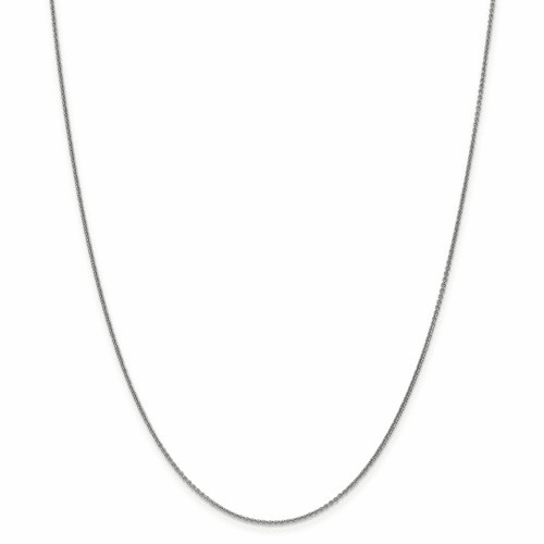 14k Wg 1mm Cable Chain Pen74-18