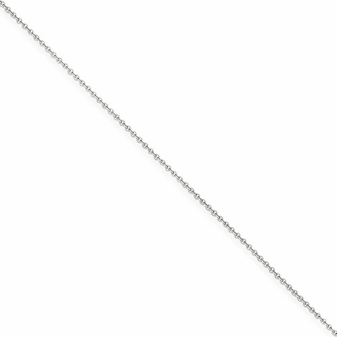 14k Wg 1mm Cable Chain Pen74-9