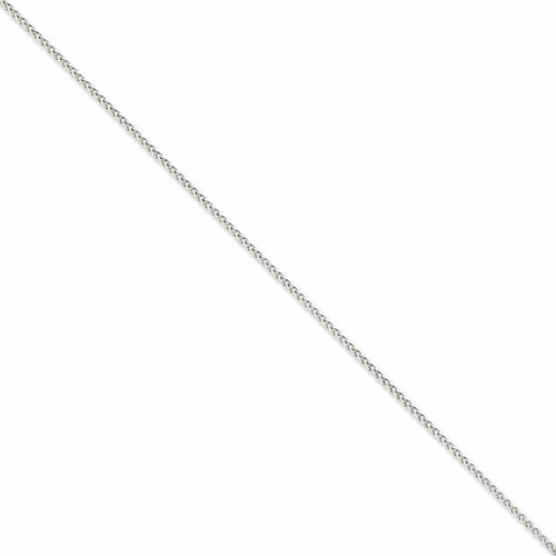 14k Wg 2.25mm Solid Polished Spiga Chain Pen122-9