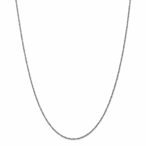 14k White Gold 1.7mm Ropa Anklet Wrpa028-9