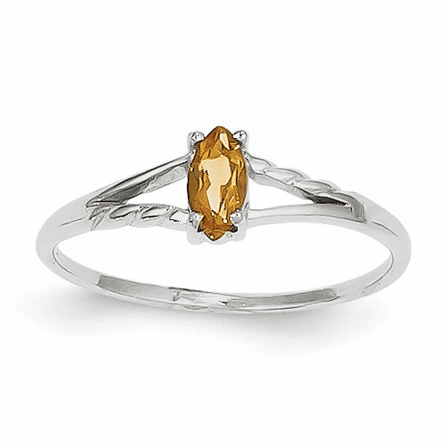 14k White Gold Citrine Birthstone Ring Xbr200