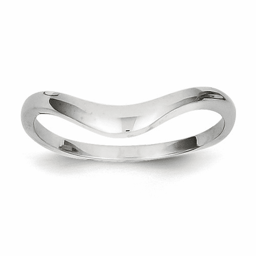 14k White Gold Swirl Ring D900