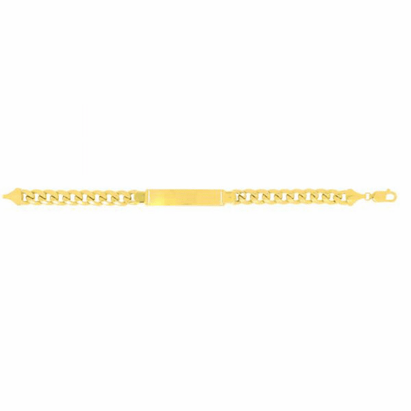 "14kt 8.5"" Yellow Gold 9.2mm Lite Miami Cuban Link ID-Bracelet"