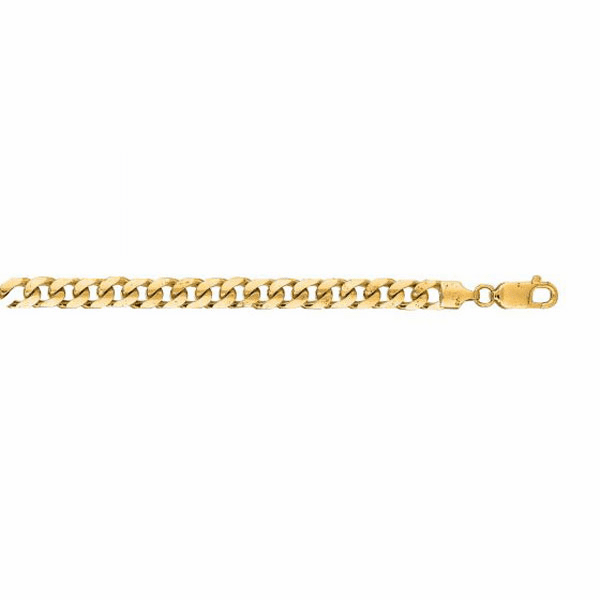 "14kt 8.50"" Yellow Gold 5.8mm Diamond Cut Miami Cuban Link Bracelet"