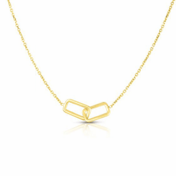 """14kt Gold 17"""" Yellow Finish Necklace with Spring Ring Clasp - RC2697"""