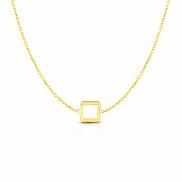 """14kt Gold 17"""" Yellow Finish Necklace with Spring Ring Clasp - RC2698"""