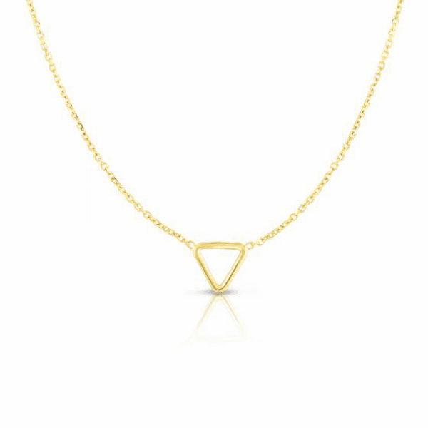 """14kt Gold 17"""" Yellow Finish Necklace with Spring Ring Clasp - RC2699"""