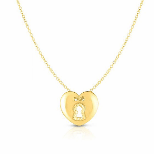 """14kt Gold 18"""" Yellow Finish Diamond Cut Necklace with Lobster Clasp"""
