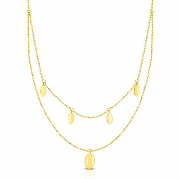 """14kt Gold 18"""" Yellow Finish Necklace with Lobster Clasp - RC2974"""