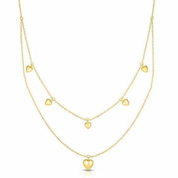 """14kt Gold 18"""" Yellow Finish Necklace with Lobster Clasp - RC2975"""