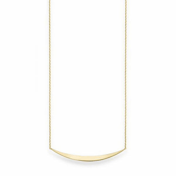 """14kt Gold 18"""" Yellow Shiny Fancy Bar Necklace w/Lobster Clasp -RC1443"""